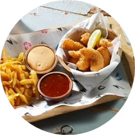SHRIMPS & CHIPS